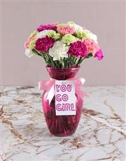 Go Girl Carnation Arrangement