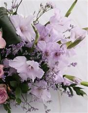 Pink Gladioli High Design Ikebana Arrangement