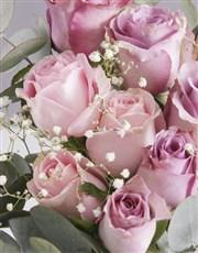 Divine Birthday Roses in a Vase