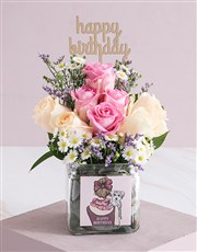 Regal Birthday Roses in a Vase