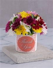 Thank you Spray in White Vase
