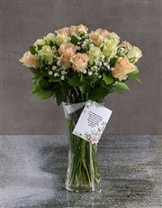 Mixed Sympathy Roses In Flair Vase
