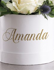 Personalised Special Mixed Flowers Hat Box