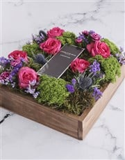 Radiant Mixed Flower Delights In Wooden Crate