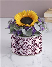 Purple Sunflower Tin