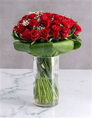 Romantic Red Rose Halo Arrangement