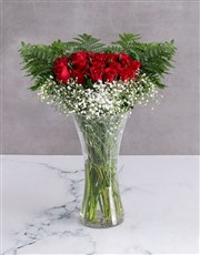 Starry Red Rose Arrangement