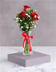 Satin Red Rose Arrangement