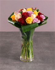 Flair Vase of Mixed Roses