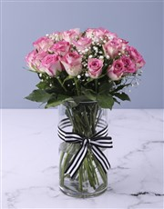 Pretty In Pink Rose Vase Arrangement