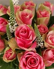 Classy Roses in Ceramic Vase