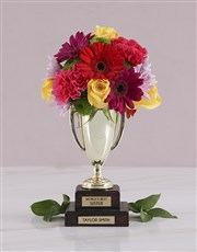 Personalised Best Sister Trophy Arrangement