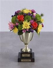 Personalised Best Boss Trophy Arrangement