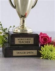 Personalised Best Girlfriend Trophy Arrangement