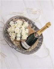 Basket Of Roses And Pongracz