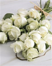 White Rose Sweetheart Bouquet