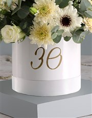 Personalised Mixed Flowers Hat Box Surprise