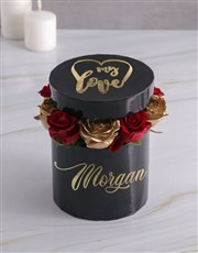 Personalised My Love Mixed Flowers Hat Box