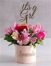Personalised Mixed Floral Beauty In Hat Box