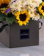 Sunflower And Teddy Occasions Box Gift