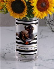 Anniversary Sunflower Photo Vase