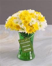 Teachers Day Sprays Surprise In Vase Gift