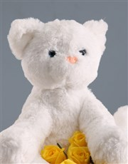Welcome Baby Teddy And Bright Blooms Gift