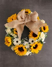 Sunny Day Sunflower Wreath Arrangement