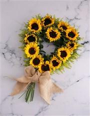 Sunflower Heart Wreath Arrangement