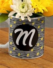 Personalised Initial Flowers In Mug