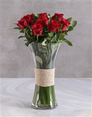 Love Grow Red Roses With Brown Teddy Bear