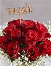 Smooch Red Roses In Fish Bowl