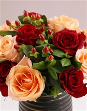 Exotic Mixed Rose Blossoms
