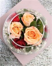 Exquisite Roses in Beautiful Bowl