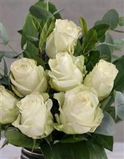 White Rose Blossoms