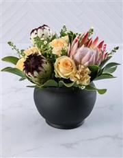 Graceful Rose and Protea Arrangement