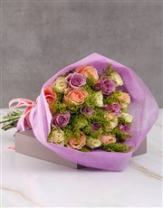 Charming Mixed Rose Blossoms