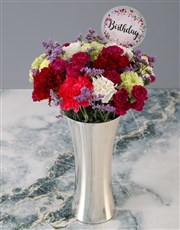 Mixed Carnations Birthday Bouquet
