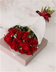Radiant Red Rose and Million Star Bouquet