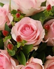 Pink Rose Vase Arrangement