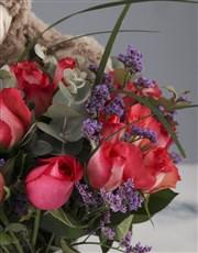 Plush Cerise Rose Arrangement