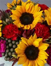 Happy Birthday Sunflower Arrangement
