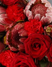 Mixed Proteas and Red Roses