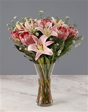 Mixed Proteas and Stargazer Lilies
