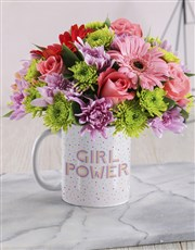 Girl Power Floral Mug