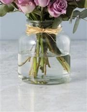 Jar of Lilac Roses