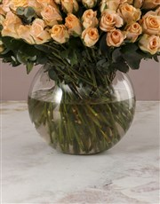 Lavish Peach Rose Arrangement