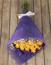 Elegant Yellow Rose Bouquet