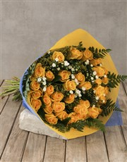Regal Yellow Rose Bouquet Gift