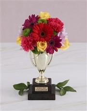 Worlds Best Colleague Trophy Arrangement